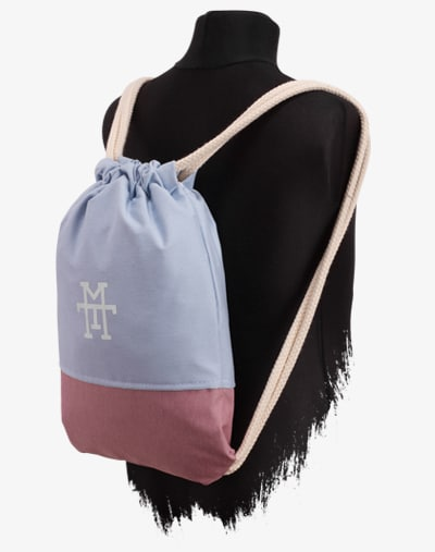 M13 Kids Sports Bag Sportbeutel Turnbeutel Kinder Gym Bag Bubble Gum blau Pink