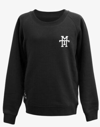 M13 Crewneck Sweater Pullover Rundhalskragen schwarz black