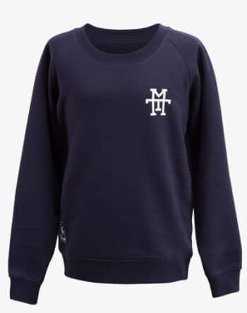M13 Crewneck Sweater Pullover Rundhalskragen navy blau