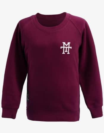 M13 Crewneck Sweater Pullover Rundhalskragen rot vino