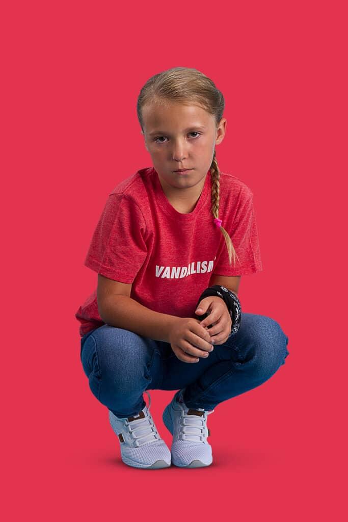 M13 Kids Vandalism T-Shirt Kinder Shirt Bright Red rot