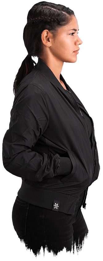 Women Bomber Jacke BLACKOUT