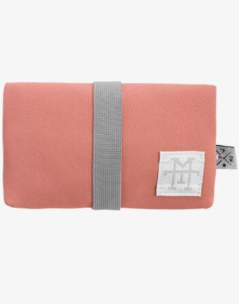 Tabaktasche Dreherbeutel Drehbeutel aus Stoff 100% Baumwolle Canvas Leder Leather vegan kunstleder lachs salmon alt-rosa rosa