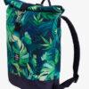 Roll-Top Backpack Rucksack Rollrucksack mit Rollverschluss zum rollen Fahradrucksack kurierrucksack großer groß vegan jungle blumen blumenmuster floral leaves monstera palm