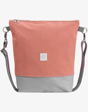Neverfull Bag - Umhängetasche, Schultertasche lachs rosa kunstleder vegan