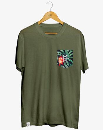 Pocket T-Shirt Corvo T-Shirt mit Brusttasche 100% Baumwolle zertifiziert Fair Trade