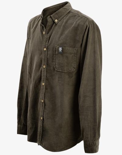 Cord Hemd kord shirt corduroy vintage button-down kent-Kragen vegan