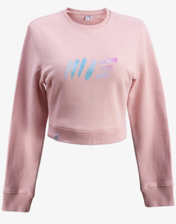 crop sweater Cropped sweatshirt jumper Damen bauchfrei kurz crop cut rosa rose pink