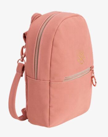 Salmon Mini Daypack kleiner Rucksack klein Backpack reißverschluss Kunstleder vegan