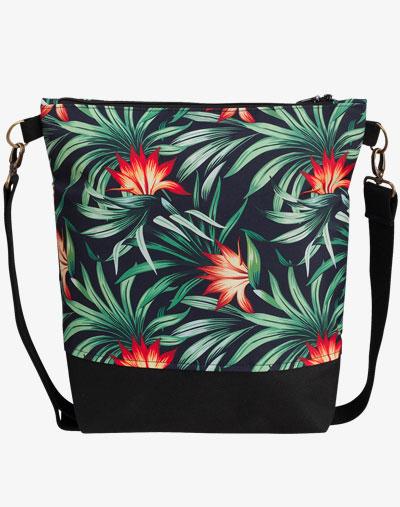 Neverfull Bag - Umhängetasche, Schultertasche vegan palmen blätter blumenmuster floral pattern palm