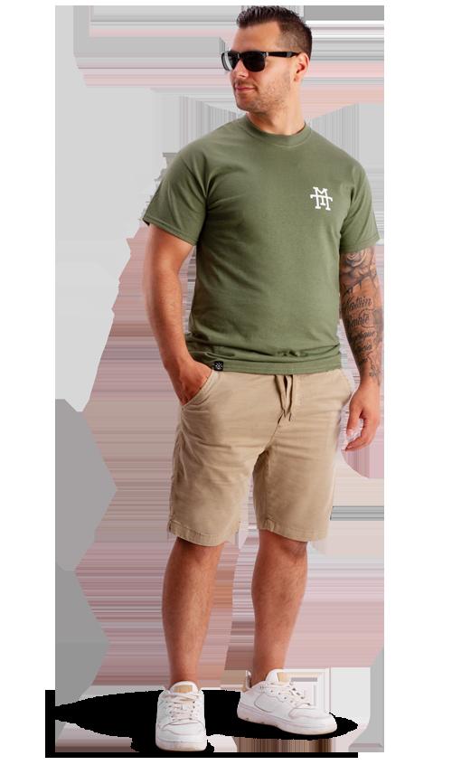 Chino Sand Shorts Khaki T-shirt kurze hose olive beige cargo